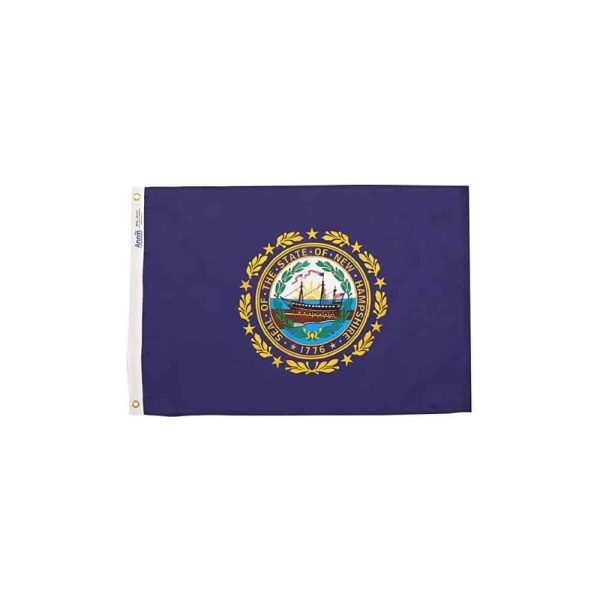 New Hampshire State Flag, Made in USA, 2x3ft