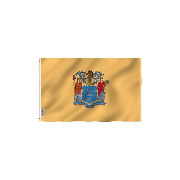 New Jersey State Flag, Vivid Color 3x5ft