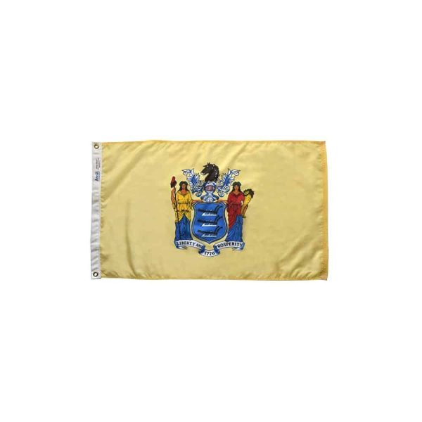 New Jersey State Flag, 3x5ft Nylon, Made in USA