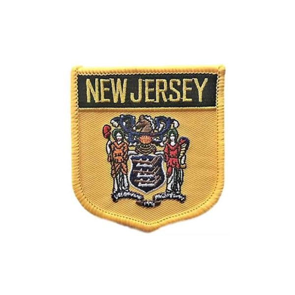 New Jersey State Flag Crest, Sew On Patch