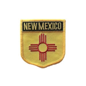 New Mexico State Flag Crest, Sew On Badge