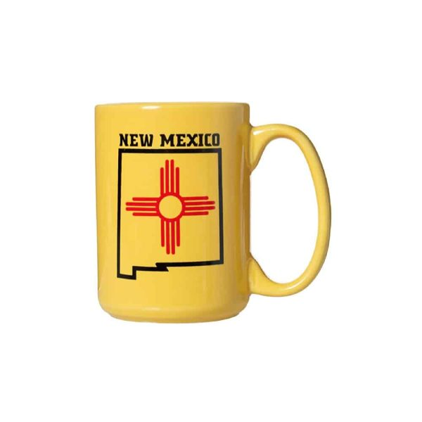 New Mexico State Flag Yellow Coffee Mug