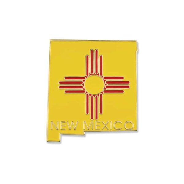 New Mexico State Flag Lapel Pin Badge