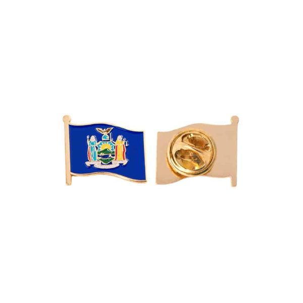 New York State Flag Lapel Pin Badge
