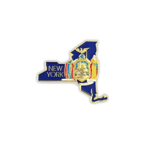 New York State Flag, lapel Pin Badge