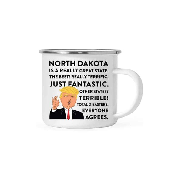 North Dakota Donald Trump Campfire Coffee Mug