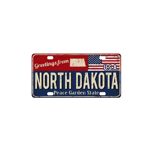 Greetings from North Dakota, License Plate Souvenir