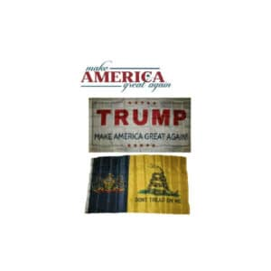 Pennsylvania State and Trump MAGA Flags, Twin Pack, White