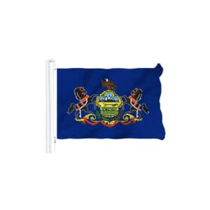 Pennsylvania State Flag, 3x5ft Polyester