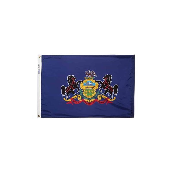 Pennsylvania State Flag, 2x3ft Made in USA