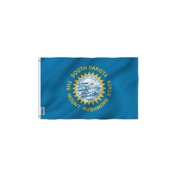 South Dakota State Flag, Vivid Color 3x5ft Polyester