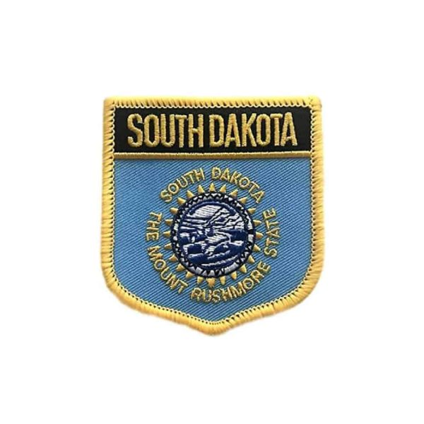South Dakota State Flag Shield, Sew On Patch