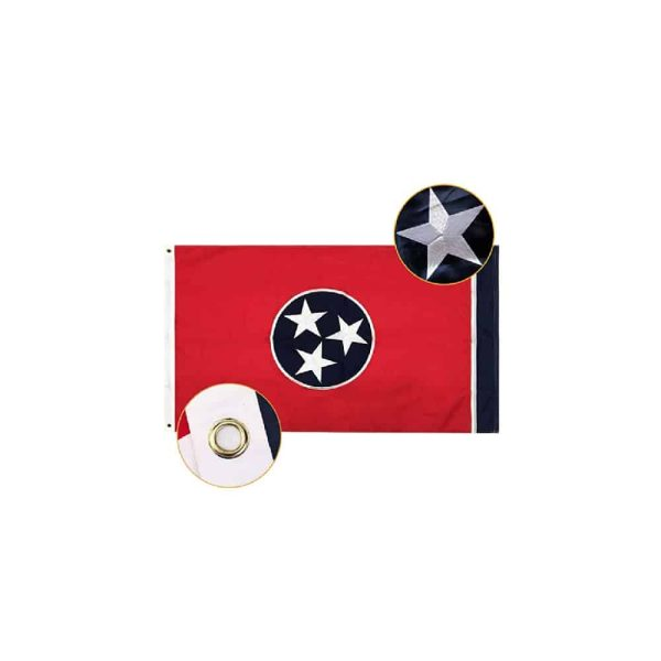 Tennessee State Flag, 3x5ft Nylon