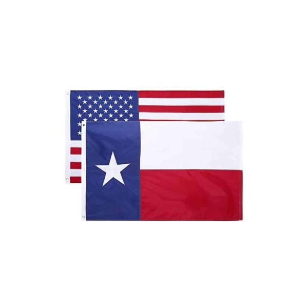 Texas State and USA Flags, Twin Pack