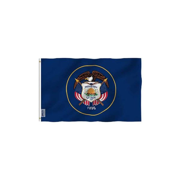 Utah State Flag, Vivid Color 3x5ft