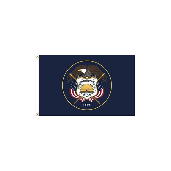 Utah State Flag, 3x5ft Nylon