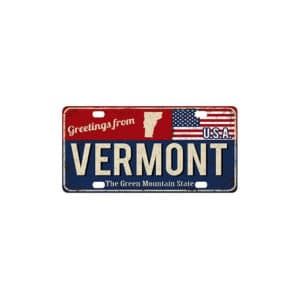 Greetings from Vermont, License Plate Souvenir
