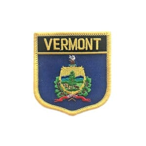 Vermont State Flag Shield, Sew On Patch