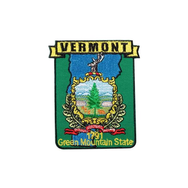 Vermont State Crest, Iron Or Sew On Patch