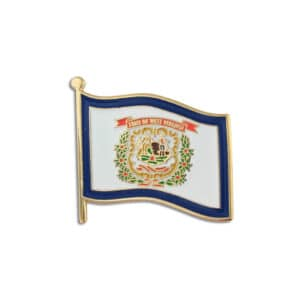 West Virginia State Flag Lapel Pin Badge