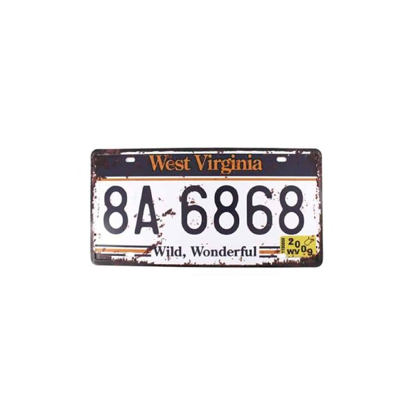 West Virginia State License Plate Souvenir