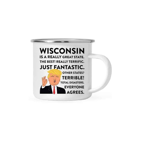 Wisconsin Donald Trump Campfire Coffee Mug
