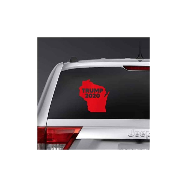 Wisconsin for Trump 2020, State Outline Sticker