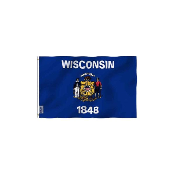 Wisconsin State Flag, 3x5ft Vivid Color Polyester