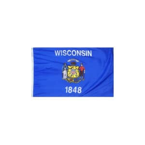 Wisconsin State Flag, 3x5ft Made in USA