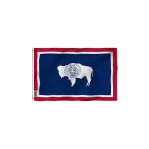 Wyoming State Flag, 3x5ft Vivid Color Polyester
