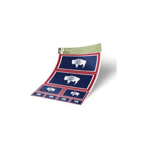 Wyoming State Flag Vinyl Stickers, Pack of 8