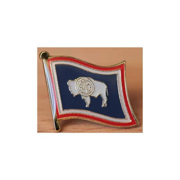 Wyoming State Flag Lapel Pin Badge