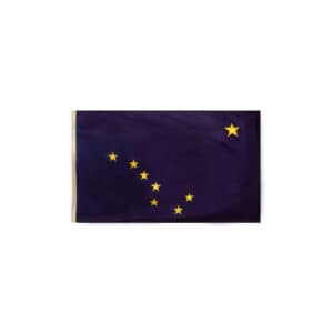 650 Alaska State Flag, 3x5ft Nylon, Made in USA