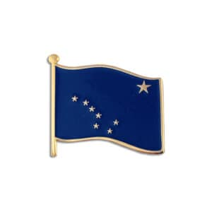 653 Alaska State Flag Lapel Pin Badge