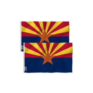 655 Arizona State Flags, Twin Pack 3x5ft