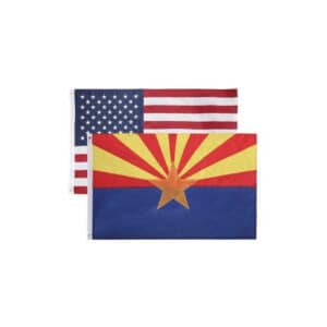 656 Arizona State and USA Flags, Twin Pack