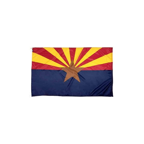 657 Arizona State Flag, 3x5ft Nylon, Made in USA