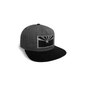 659 Arizona State Flag Baseball Cap, Grey and Black