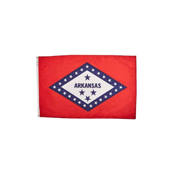 660 Arkansas State Flag, 3x5ft Nylon, Made in USA