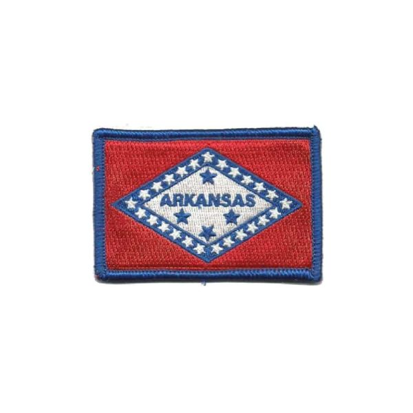 664 Arkansas State Flag Tactical Sew On Patch