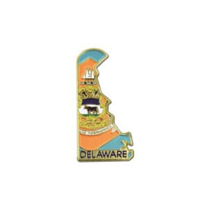 675 Delaware State Outline Lapel Pin Badge