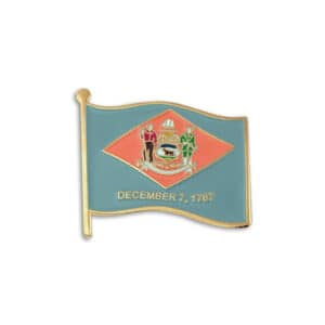 676 Delaware State Flag Lapel Pin Badge