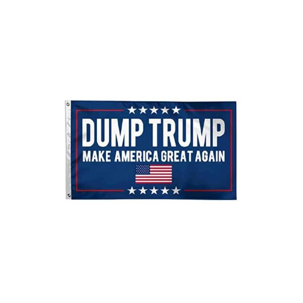 708 Dump Trump MAGA Flag USA Flag
