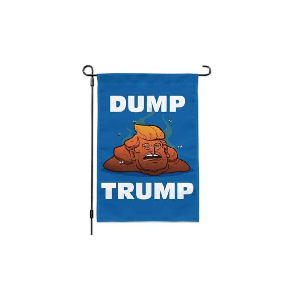 710 Dump Trump Poop Cartoon Vertical Flag