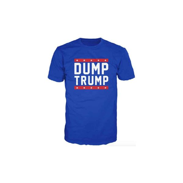 725 Dump Trump - Blue Red and White T-Shirt