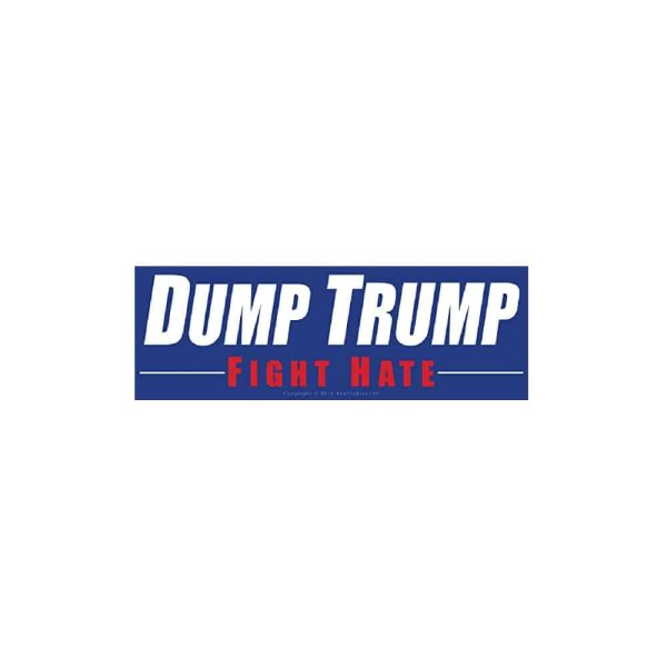 728 Dump Trump, Fight Hate - Bumper Sticker