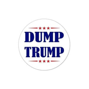 733 Dump Trump Vinyl Bumper Stickers