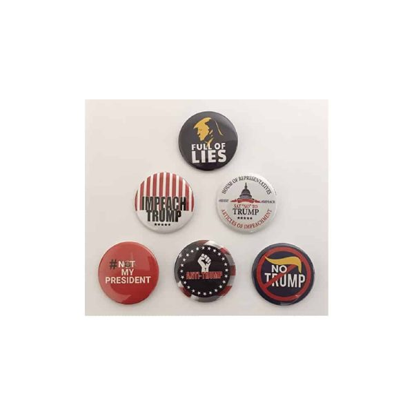753 Anti-Trump Button Set