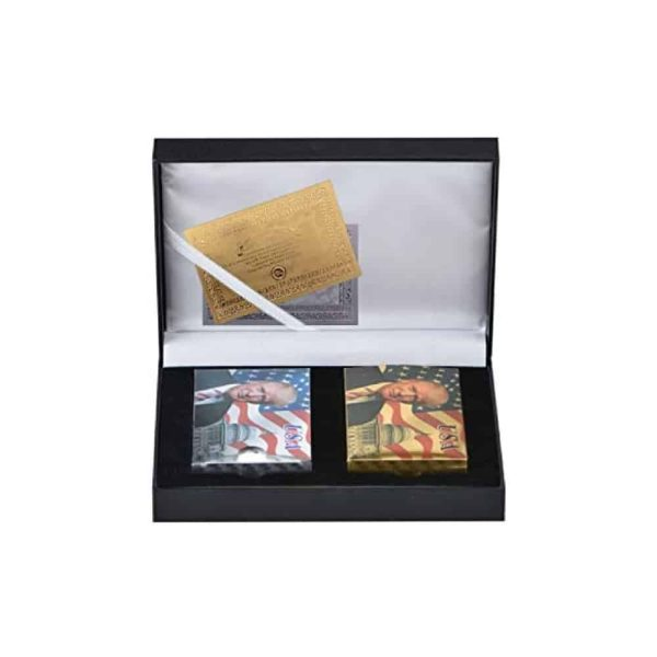 777 Donald Trump Gold Plated Playing Cards