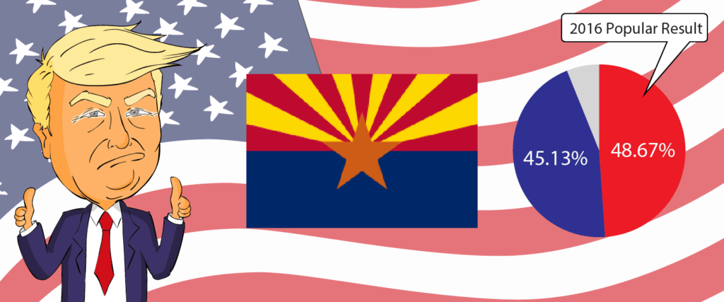 Arizona for Trump 2020 - Buy Donald Trump Merchandise for Arizona State